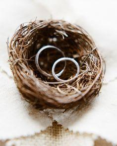Porta-alianzas de musgo y tipo nido 13