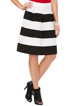 Cato Fashions Textured Stripe A-Line Skirt #CatoFashions