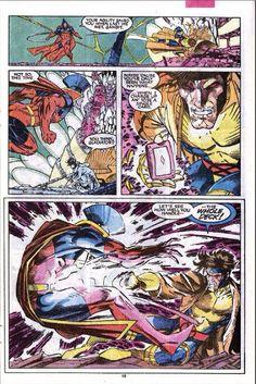 Favorite Jim Lee art. Gambit vs. Gladiator