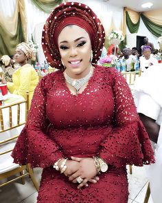 22 Beautiful GELE Styles for our Todays Bride in Africa - WearitAfrica African Fashion Ankara, Latest African Fashion Dresses, African Dresses For Women, African Print Fashion, Africa Fashion, African Attire, Nigerian Fashion, Nigerian Lace Styles, African Lace Styles