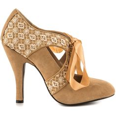 Mojo Moxy Women's Prissy - Sand (€58) ❤ liked on Polyvore featuring shoes, pumps, heels, heels.com, beige, round cap, round toe pumps, mojo moxy, mojo moxy shoes and sand shoes