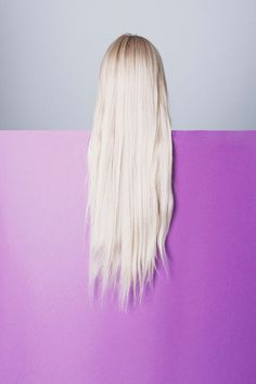 art direction | platinum blonde hair on purple