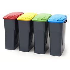 Smart 25 Litre Slim Recycling Bin with Push Lid