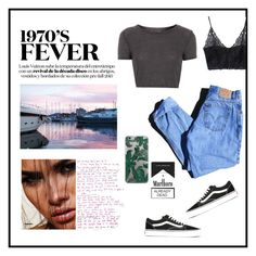 """""""Untitled #21"""" by cilka-nedbalova on Polyvore featuring Levi's, WithChic, Topshop and Vans"""