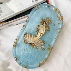 """Art and Stuff by Becky Louise on Instagram: """"💙 The birth of Venus 💙 #resin #resintray #lfl #renaissance #venus #birthofvenus #resinartist #resinmolds"""" Venus Mythology, The Birth Of Venus, Resin Molds, Renaissance, Artist, Instagram, Atelier, Artists"""