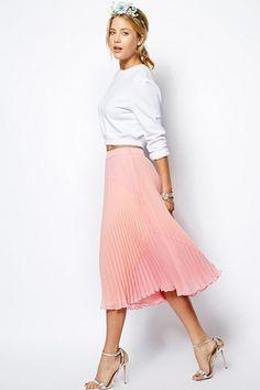 С чем носить модно плиссированную юбку? (15 вариантов)