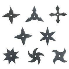Japaneses Ninja Rubber Throwing Star Shuriken 10 Pieces Set Asian Bedroom