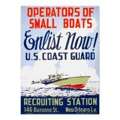 U. S. Coast Guard - Enlist Now ! Poster