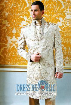 Style DRM1003, Product code: DRM1003, by www.dressrepublic.com - Keywords: Khawer Iqbal Mens Sherwani Designer, Khawar Iqbal Mens Sherwani Designer