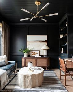 Greenblack by sherwin williams Home Office Space, Home Office Design, Home Office Decor, House Design, Office Spaces, Masculine Office Decor, Office Ideas, Green Home Offices, Design Design