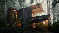 Jim Olson's Tiny Cabin In The Woods Or Why Being Part Of Nature Is Poetic  #architecture