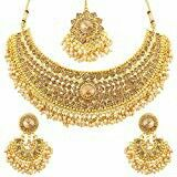Sukkhi Bollywood Collection Traditional Gold Plated Kundan Choker Necklace Set for Women – Jewelry Diamond Choker Necklace, Necklace Set, Women's Earrings, Pearl Choker, Pendant Necklace, Women's Jewelry Sets, Jewelry Stores, Women Jewelry, Ethereal Beauty