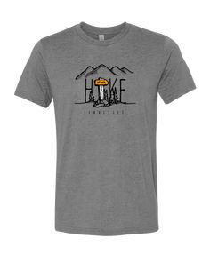 2c2800e597 GREY TRIBLEND T-SHIRT BY ALLMADE WITH ORANGE, WHITE & BLACK INKS. AVAILABLE