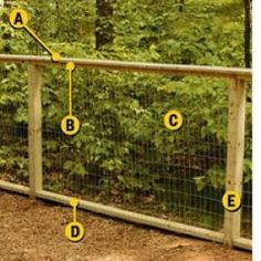 DIY garden fencing (a Home Depot tutorial) I think it is a good way to build an chicken run. With chicken wire on the inside, the welded fence on the outside to keep out the more persistent pest.