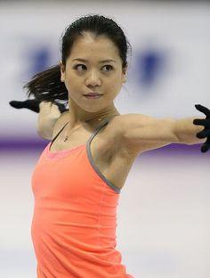 Akiko Suzuki(JAPAN)   : Plactice : World Figure Skating Championships 2013 in London(CANADA)