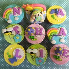 sunshine theme cupcake