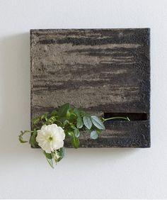Flower hanging vase by Kouzo TAKEUCHI, Japan