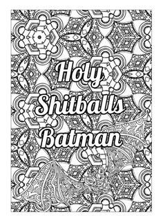 Pattern Coloring Pages Cool Printable Sheets Adult Books Colouring Swear Word