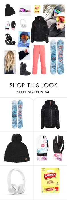"""Snowboarding pt 1 w/ The Dolan Twins"" by ceeeeee232 on Polyvore featuring Superdry, Burton, Roxy and Carmex"