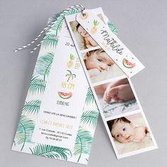 Faire-part de naissance Spring : original, tropical , dans la catégorie trendy
