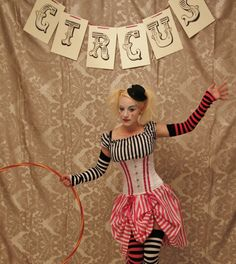 WAS 135 Circus Clown Corset Costume Oufit-Corset by AliceAndWillow                                                                                                                                                                                 More