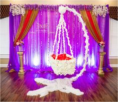 Amazing cradle ceremony decoration ideas for all your events. images for cradle decoration for naming ceremony from Quotemykaam catalogue. Naming Ceremony Decoration, Ceremony Decorations, Flower Decorations, Marriage Decoration, Baby Shower Party Favors, Baby Shower Themes, Baby Shower Decorations, Indian Wedding Decorations, Birthday Decorations