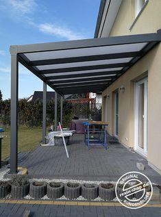 Alu Carport, Pergola Alu, Aluminum Pergola, Outdoor Pergola, Outdoor Rooms, Concrete Patio Designs, Backyard Patio Designs, Backyard Landscaping, Modern Gazebo