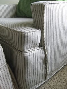 Love this slipcover! it doesn't even look like one...awesome job Shelley! Custom Slipcovers by Shelley: April 2011