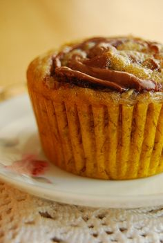 self-frosting Banana Nutella cupcakes, you have to try them :)