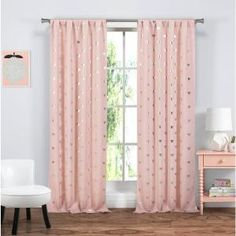 Heighten the drama of your elegant living room by adding these blackout energy-saving window panel curtains to your windows. Their blackout features include noise reduction, room darkening, energy saving Drapery Panels, Grommet Curtains, Window Panels, Blackout Curtains, Living Room Sets, Living Spaces, Kitchen Window Curtains, Casual Decor, Pink Curtains