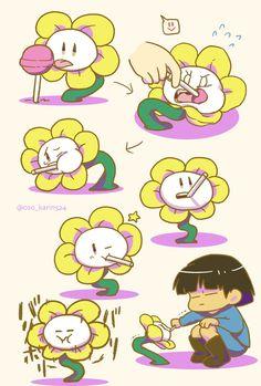 Flowey Undertale, Undertale Game, Undertale Comic Funny, Anime Undertale, Alien Drawings, Cute Drawings, Flowey The Flower, Tv Head, Toby Fox