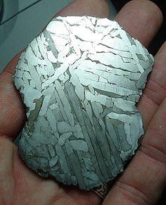 Slice of etched Seymchan siderite meteorite. Not for sale.