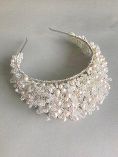 Ankle Jewelry, Hair Jewelry, Wedding Hair Accessories, Wedding Jewelry, Bridal Tiara, Pearl Bridal, Enchanted Bridal, Floral Wedding Hair, Chain Headband