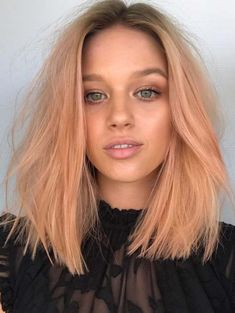 32 Fabulous Peach Lob Hairstyles To Show Off in 2018. The lob has become on the top list among the famous hairstyles since last few years. Also, there are much hair color options for ladies to add in long bob haircuts for more elegant look. In this post, you can see amazing shades of peach hair colors that you may use to sport with lob styles just to make them modern.