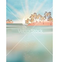 Summer Yacht in sea at sunset vector by Glush2502 on VectorStock®