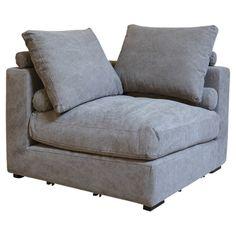 Chadwick Corner Chair in Stonewash Grey
