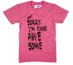 t-shirt awesome www.unitirio.com.br