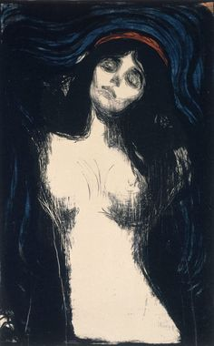 Edvard Munch (Norwegian, 1863-1944), Madonna, 1895-1902. Color lithograph on wove, tan, mixed fiber paper, 17 5/16 x 17 ½ in. (44 x 44.5 cm). Museum of Fine Arts, Boston, William Francis Warden Fund (57.362). © 2013 The Munch Museum / The Munch-Ellingsen Group / Artists Rights Society (ARS), New York