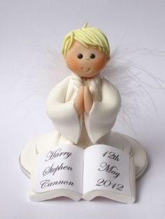 Confirmation/Holy Communion Cake Topper Boy Angel: