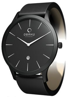 Obaku By Ingersoll Ladies Black Dial Black Leather Strap Watch Fall Jewelry, Summer Jewelry, Jewlery, Premier Designs, Simple Watches, Watches For Men, Man Gear, Vintage Jewelry Crafts, Wholesale Jewelry