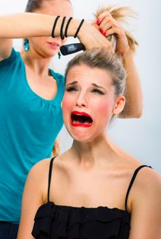 Hair Care Tip of the Week: Never let an angry stylist comb your hair!  #hairfashion #headwraps