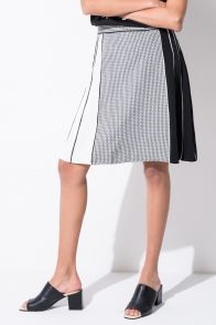 FRS Monochrome Ruffled Skirt - FrontRowShop
