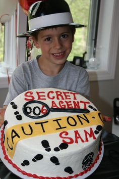 Sam's Spy themed Birthday Cake, Agent 006 for his 6th birthday.