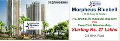 Morpheus Bluebell noida extension is a dream of providing high standards of living environment has blossomed into a reality with more than 6 years of experience MORPHEUS GROUP