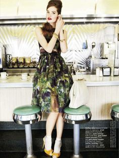 visual optimism; fashion editorials, shows, campaigns & more!: meet me at the diner...: esme wissels, james, wes and matti by walter chin for glamour uk march 2012