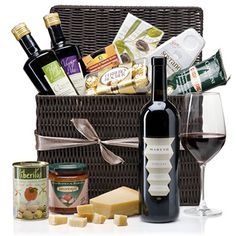 Italian Picnic Hamper Deluxe Wine Gift Basket to Hong Kong - Gift Delivery Service