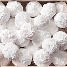 Love this for a Christmas cookie exchange. Almond Snowballs