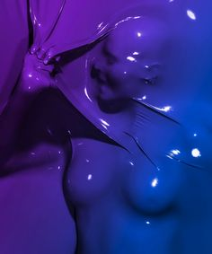 Skindeep, By French photographer Julien Palast: Tightly Pressed Against Colorful Shrink Wrap