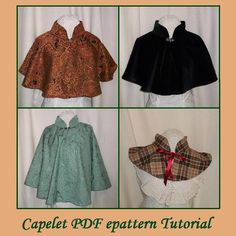 Capelet Pattern Sewing, Collar Pattern, Sewing Patterns, Clothes Patterns, Sewing Clothes, Diy Clothes, Jessica Rabbit, 1 Piece Dress, Outfits