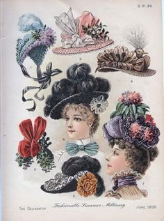 Fashions of the late 1800's